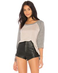 Chaser - Baseball Tee In Grey - Lyst