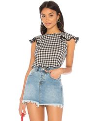 Michael Stars - Front To Back Gingham Blouse - Lyst