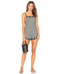 Beach Riot - X Stone Cold Fox Macey Romper In Black - Lyst