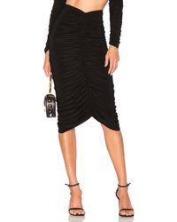 Norma Kamali - X Revolve Shirred Skirt In Black - Lyst