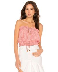 Free People - Peppermint Tube Top In Red - Lyst