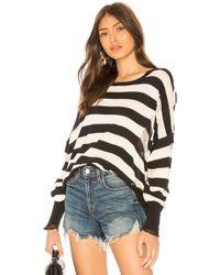 NSF - Presley Sweater In Black & White - Lyst