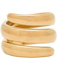Five And Two - Jess Wrap Around Ring In Metallic Gold - Lyst