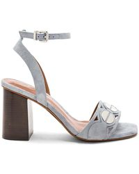 Lola Cruz - Embellished Heel In Blue - Lyst
