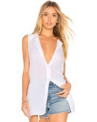 BCBGeneration - Back Lace Up Button Down Tank - Lyst