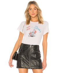 RE/DONE - Her Way Graphic Classic Tee In White - Lyst