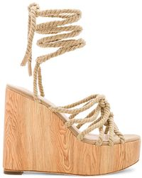 RAYE - Alaya Wedge In Tan - Lyst