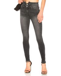 Black Orchid - Karlie Button Front Skinny - Lyst