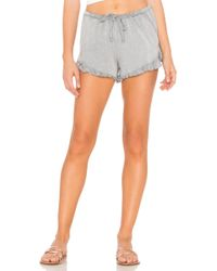 Chaser - Ruffle Short In Gray - Lyst