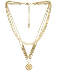 Luv Aj - X Sabo Luxe Noa Coin Charm Necklace In Metallic Gold. - Lyst