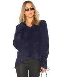 Frankie - Oversized Varsity Sweater In Blue - Lyst