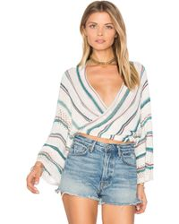 Goddis - Dancer Wrap Sweater - Lyst