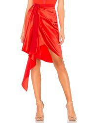 Fleur du Mal - Asymmetrical Mini Skirt In Red - Lyst