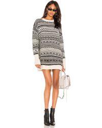 Nude - Sweater Dress - Lyst