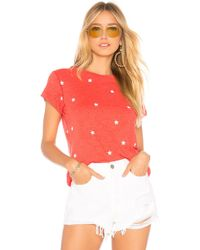 Wildfox - Football Star No9 Tee In Red - Lyst