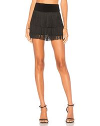 Norma Kamali - Fringe All Over Shorts In Black - Lyst