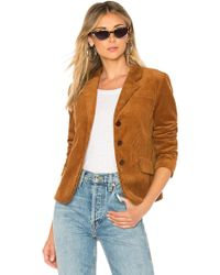 Icons - The Three Button Corduroy Blazer In Cognac - Lyst
