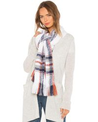 Michael Stars - Boucle Scarf In White. - Lyst