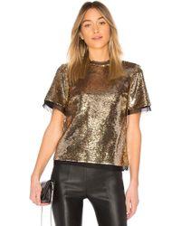 Rachel Zoe - Flynn Top In Metallic Gold - Lyst