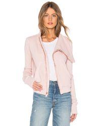 Frank & Eileen - Tee Lab Side Zip Fleece Jacket In Pink - Lyst