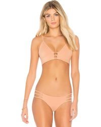 dbrie - Rubi Bikini Top In Tan - Lyst