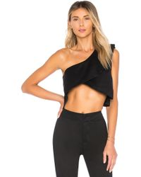 Lioness - Cali One Shoulder Top In Black - Lyst