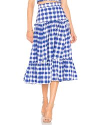 MDS Stripes - Tiered Ruffle Skirt - Lyst
