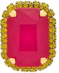 Elizabeth Cole - Hadra Ring In Metallic Gold. - Lyst