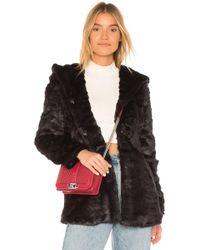 Etienne Marcel - Cara Faux Fur Jacket In Black - Lyst