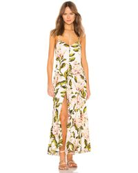 fa18ac86abb Mara Hoffman Bustier Striped Sundress in Green - Lyst