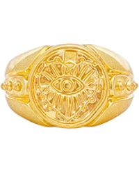 Luv Aj - The Evil Eye Coin Signet Pinky Ring In Metallic Gold. - Lyst