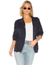 Michael Stars - Military Parka In Blue - Lyst