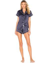 Homebodii - Short Piping Pyjama Set - Lyst