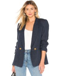 Icons - The Rose Db Blazer In Navy - Lyst