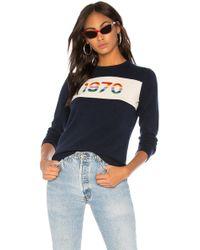 Bella Freud - 1970 Rainbow Cashmere Sweater In Navy - Lyst