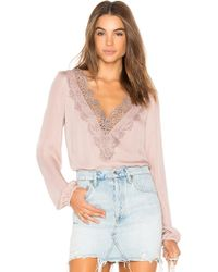 Cami NYC - The Alannah Blouse In Blush - Lyst