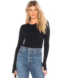 Enza Costa - Cashmere Cuffed Crew Neck Top In Navy - Lyst