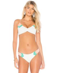 L*Space - L* Haley Blocked Bikini Top In Cream - Lyst