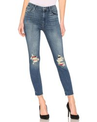 Mother - High Waisted Looker Ankle Fray - Lyst