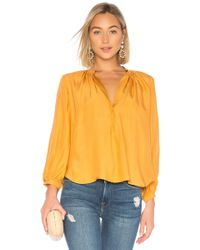 Apiece Apart - Yara Bravo Blouse In Yellow - Lyst