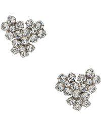 Jennifer Behr - Violet Stud Earrings In Metallic Silver. - Lyst