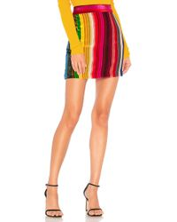MILLY - Modern Mini Skirt In Red - Lyst
