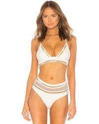 Agua Bendita - Anita Bikini Top In White - Lyst