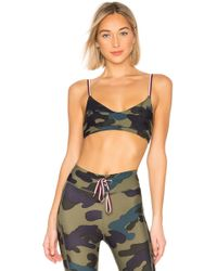 The Upside - Camouflage Print Bralette - Lyst