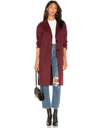 Lamarque - Coppola Coat In Burgundy - Lyst