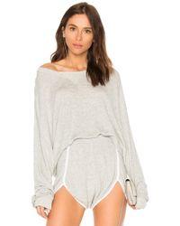 Wildfox - Solid Sweatshirt In Gray - Lyst
