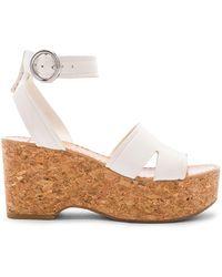 Dolce Vita - Linda Platform Sandal In White - Lyst