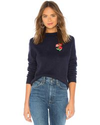 House of Harlow 1960 - X Revolve Floral Embroidered Jumper In Blue - Lyst