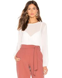 1.STATE - Blouson Sleeve Top In White - Lyst