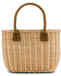 Hat Attack - Wicker Small Basket Bag - Lyst